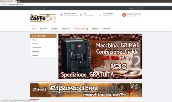 Ecommerce Tuttocaffe24.it